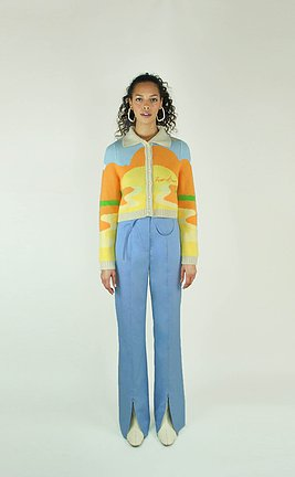 Cardigan and Jeans from House of Sunny - sustainable christmas gifts