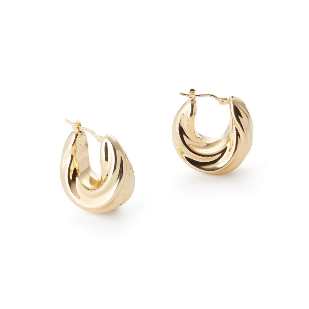 gold hoop earrings from motley - sustainable christmas gifts
